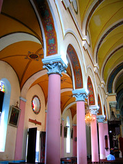 pink pillars (Farl) Tags: africa old church architecture tanzania interior culture unesco zanzibar stonetown preservation worldheritage