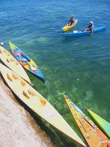 kayaks, Punta Engaño, Mactan, Cebu