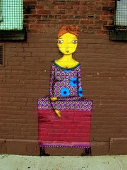 lovely (justiNYC) Tags: street nyc urban streetart art brooklyn graffiti paint williamsburg sart justinyc