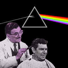 Pink Floyd the Barber? (sammo371) Tags: andy pinkfloyd opie mayberry mayberryrfd darksideofthemoon andygriffith floydthebarber