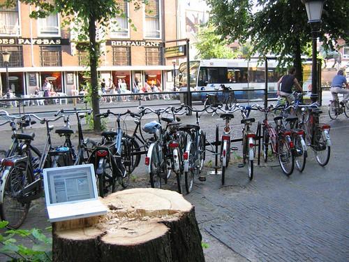 Laptop, Janskerkhof, Utrecht