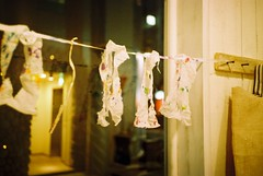 curtains made by kleenex :) - by naota