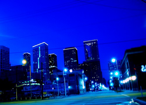 picasa houston downtown electricity asmallpieceofmyworld heynotraffic alone