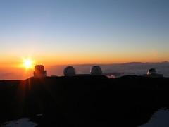 Sunset auf dem Mauna Kea
