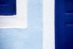 Shades (Walter Quirtmair) Tags: 2005 door blue film window facade santorini greece minimalistic swq takenbywalter skala fira eos300