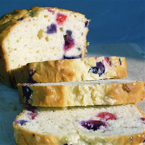 Berries flavor this classic sour cream cake bread.