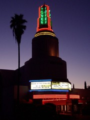 20050725 Tower Theatre at dusk (Tom Spaulding) Tags: california ca sign architecture marquee theater neon theatre signage sacramento towertheatre streamlinemoderne qoopv historicusroute99
