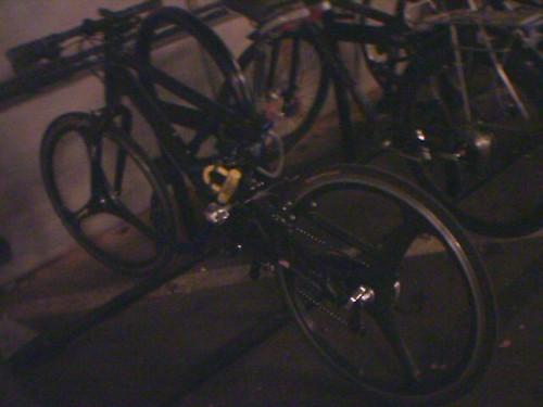 Urban street machine in work's bike racks this morning