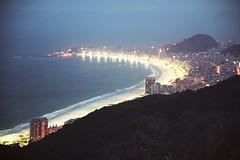 Copacabana beach at dusk seen from the Sugar Loaf (Bruno Girin) Tags: brazil riodejaneiro copacabana beach dusk