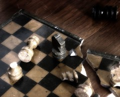 Trauma (soldeace) Tags: chess stone game board broken trauma accident