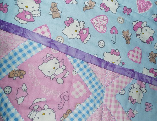 hello kitty quilt. Hello Kitty Quilt Binding & Backing