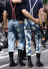 Skins In Love (Nicote) Tags: street gay man black men love germany couple skins long martin skin boots stuttgart bald bleach parade jeans denim warriors title sole doc soles csd chemical skinhead cropping docmartin domestos