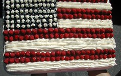 flag cake...by Chris and Jenny (via Creative Commons)