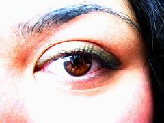 The London Eye (ellectric) Tags: portrait people brown macro eye me girl up closeup eyes close ellectric