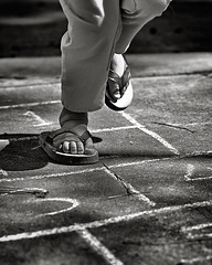 (thejbird) Tags: bw kids play feet toes hopscotch tc2toes kid childhood 100v10f