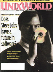 Steve Jobs on the cover of April 1993 UnixWorld