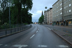 Mannerheimintie (dumell) Tags: street city morning urban wet finland helsinki traffic empty rainy deserted emptiness mannerheimintie töölöö mannerheimvägen