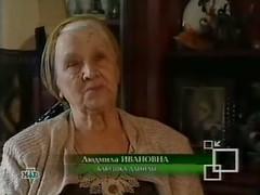 Danila's great-aunt on NTV (Danila Medvedev) Tags: lyudmila lyusya lopatenko ntv  tv  television cryonics greataunt   reporter  dead