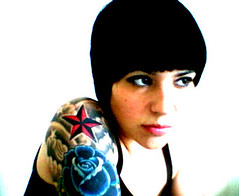 look (kitty27) Tags: isight me portrait selfportrait photoshopcs tattoos women