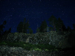 Devil's Postpile at Night (Brian W. Tobin) Tags: easternsierras