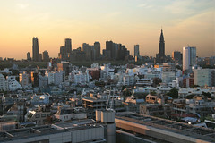 View from the office (Lil [Kristen Elsby]) Tags: city urban japan skyline architecture buildings tokyo topf50 shinjuku asia cityscape view dusk harajuku getty  topv11111  gettyimages omotesando eastasia      gettyimagesonflickr