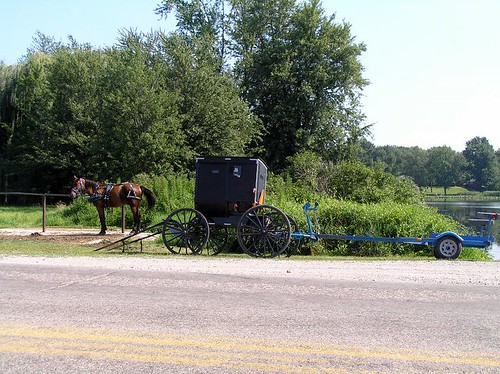 amish buggy boat trailer