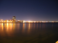 Port Phillip Bay (Los Cardinalos) Tags: melbourne victoria australia 2005 portmelbourne night longexposure pc3207 vividfilter canona510 day16