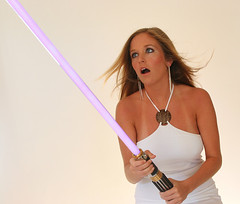 Love the Lightsabre (EngelFish) Tags: color studio nc model humor northcarolina chrisengel raleigh lightsabre sexualinnuendo geekdream utatafeature