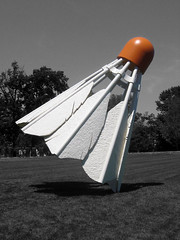 """""""Shuttlecocks"""" (akoestner) Tags: shuttlecock badmitton kansascity missouri art sculpture museum nelsonatkins claesoldenburg oldenburg shuttlecocks coosjevanbruggen bruggen nelson atkins"""