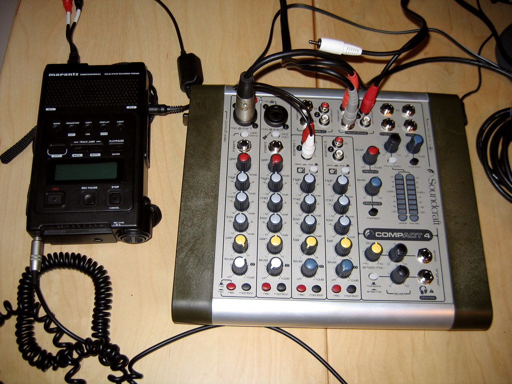 Mixer and digital recorder
