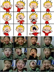 Some kid making Calvin Faces (dogwelder) Tags: comic nathan faces cartoon zurbulon6 calvinandhobbes notmypicture zurbulon gatturphy referencepic