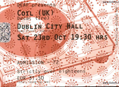 Coil dublin city hall ticket