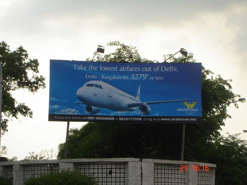 Air Deccan Delhi-Bangalore ad at Delhi Airport