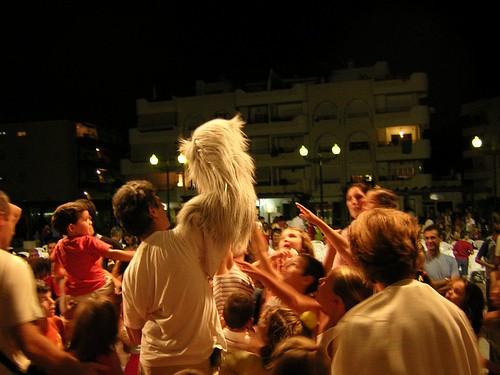 Actuación de Marimba Marionetas