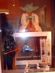 May the force be with you (Emu stardust) Tags: ibn battuta mall dubai yoda star wars lego darth vader