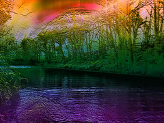 Roe (Mr Bultitude) Tags: ireland colour water photoshop river rainbow northernireland roe mrbultitude neilcarey