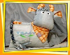 cowboy cushion (ccyytt) Tags: cushion cowboy cow jean crafts handmade sewing mos mosaugust2005
