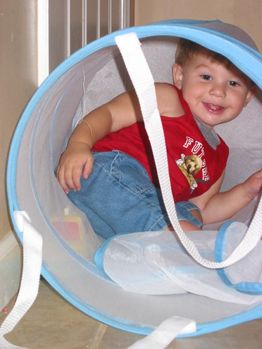 Playing in the Clothes hamper