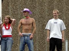 Pride2005-63 (flambard) Tags: 2005 pink gay hairy man guy hat cowboy brighton chest hunk pride jeans torso whistle sagger flambard brightonpride waistband