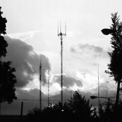 Antennas (MikeWebkist) Tags: philadelphia ridgeavenue gorgaspark bw roxborough antenna antennae antennas radiotower