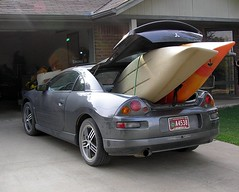 Our Mitsubishi Eclipse Packing Both Kayaks