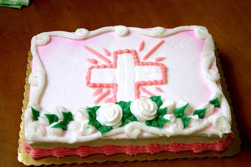 The baptism cake