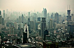 Shanghai Skyscape by pmorgan