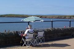 Feet up (welshlady) Tags: seaside seasons parasol promenade summertime deckchairs seaview kilfarrasybeach