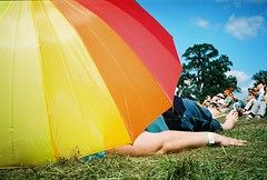 chilling at the chill (lomokev) Tags: umbrella rainbow ground contax bigchill t2 agfaultra eastnor contaxt2 eastnorpark filecontaxt20805a02 rota:type=showall rota:type=composition rota:type=portraits rota:type=stilllife