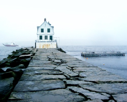 spooky Rockland Breakwater Lighthouse