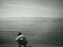 Peacefull (jajasmin) Tags: deleteme5 sea summer deleteme8 bw deleteme deleteme2 deleteme3 deleteme4 deleteme6 deleteme9 deleteme7 beach kid saveme deletme10