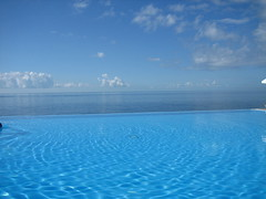 Three blues (Lou Rouge) Tags: blue portugal pool azul mar piscina bleu madeira funchal lourouge