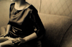 Bridesmaid (* Sontheimer Pictures *) Tags: ireland wedding film sepia headless canon interestingness interesting blurry women europe sjs2 jls11 jrs7
