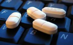 pills and keyboard